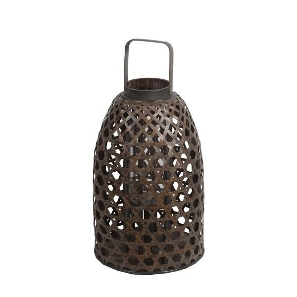 Privilege Brown Wood Large Bamboo Lantern