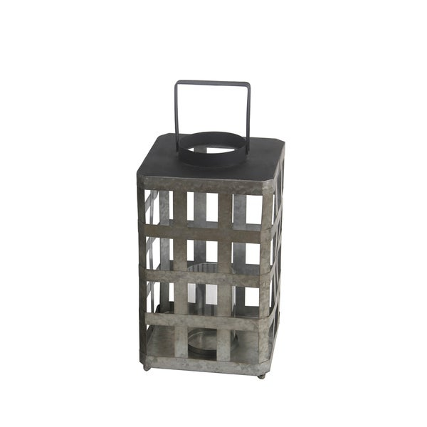 Privilege Grey Iron Large Lantern