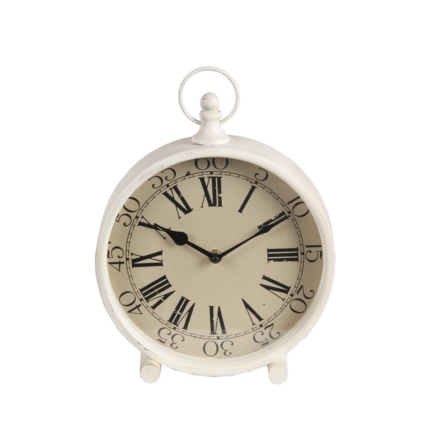 Privilege White Iron Medium-size Clock
