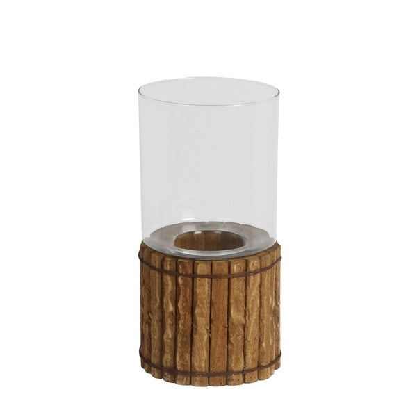 Privilege Organic Brown Wooden Large Candle Lantern