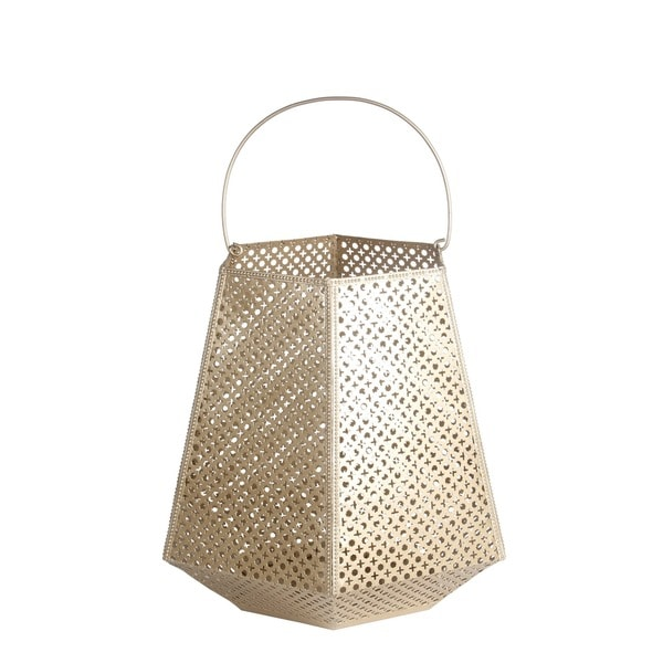 Privilege Matte Gold Large Lantern