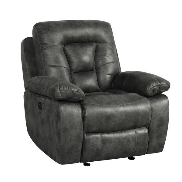 Overstuffed Microfiber Glider Recliner Chair