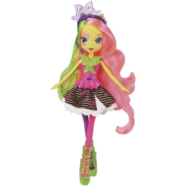 My Little Pony Equestria Girls Multicolor Plastic Neon Rainbow Rocks Fluttershy Doll