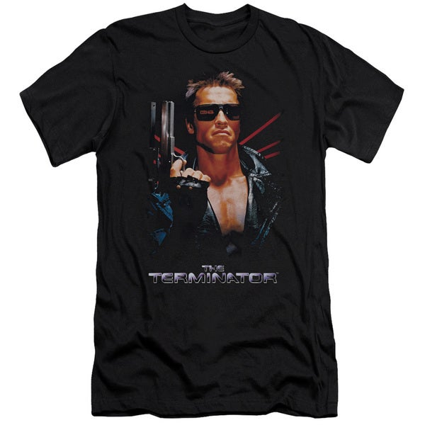 Terminator/Poster Short Sleeve Adult T-Shirt 30/1 in Black