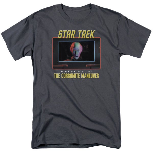 St Original/The Corbomite Maneuver Short Sleeve Adult T-Shirt 18/1 in Charcoal