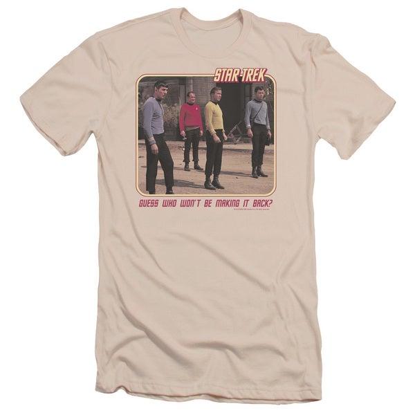 Star Trek/Red Shirt Blues Short Sleeve Adult T-Shirt 30/1 in Cream