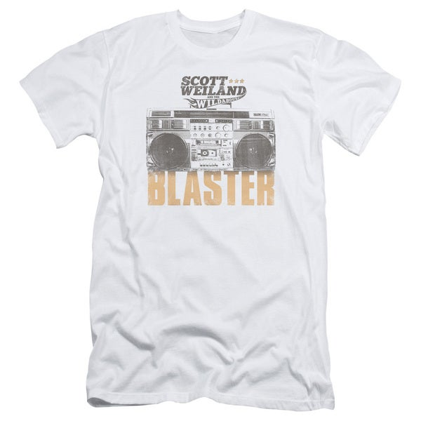 Scott Weiland/Blaster Short Sleeve Adult T-Shirt 30/1 in White