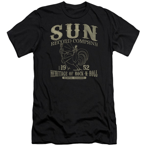Sun Records/Rockabilly Bird Short Sleeve Adult T-Shirt 30/1 in Black
