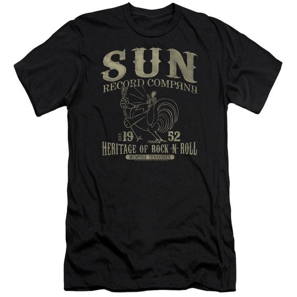 Sun Records/Rockabilly Bird Short Sleeve Adult T-Shirt 30/1 in Black