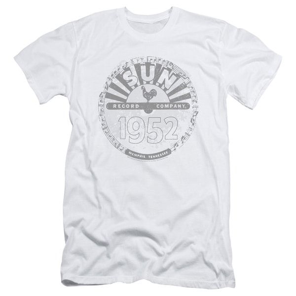 Sun Records/Crusty Logo Short Sleeve Adult T-Shirt 30/1 in White