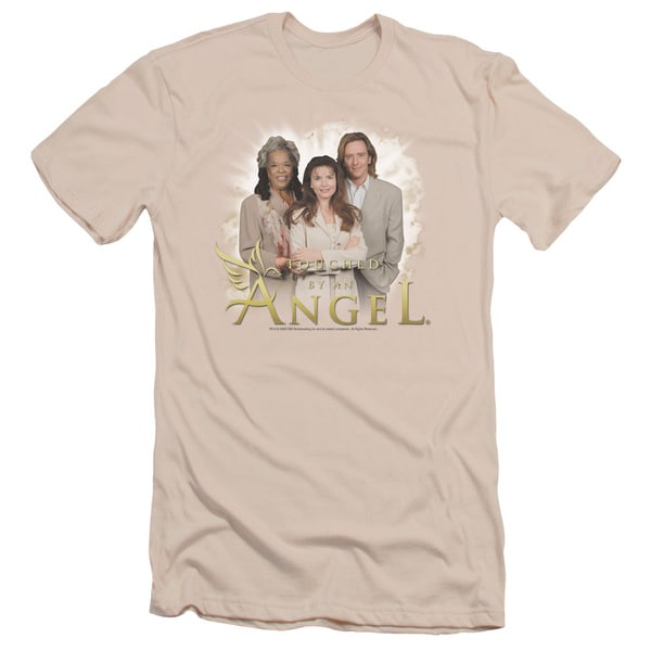 Touched By An Angel/An Angel Short Sleeve Adult T-Shirt 30/1 in Cream