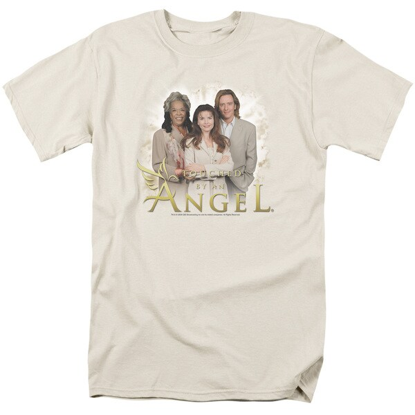 Touched By An Angel/An Angel Short Sleeve Adult T-Shirt 18/1 in Cream