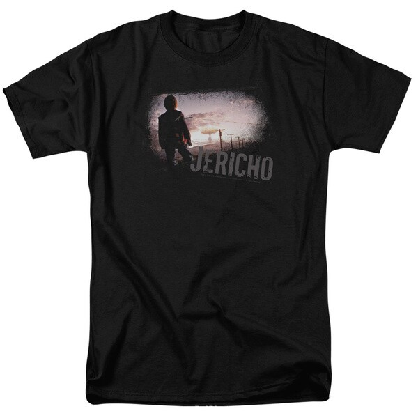 Jericho/Mushroom Cloud Short Sleeve Adult T-Shirt 18/1 in Black