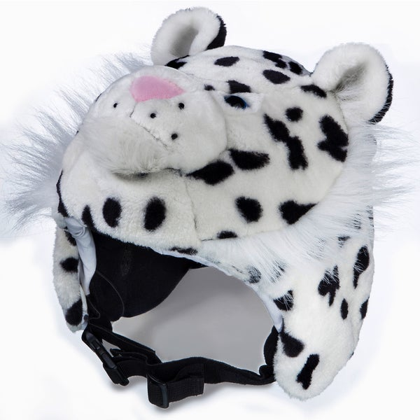 crazeeHeads Zippy the Snow Leopard Plush Helmet Cover