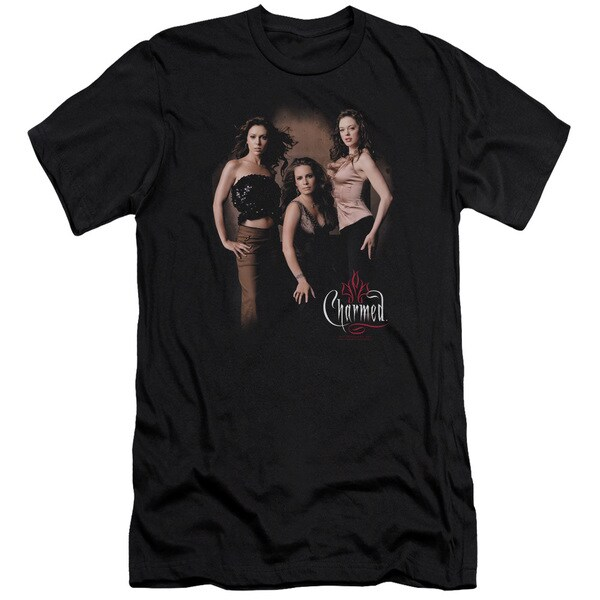 Charmed/Three Hot Witches Short Sleeve Adult T-Shirt 30/1 in Black