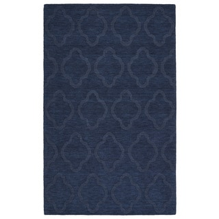 Trends Navy Prints Wool Rug (9'6 x 13'6)