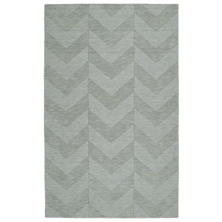 Trends Spa Chevron Wool Rug (9'6 x 13'6)