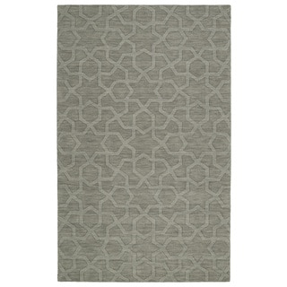Trends Grey Geo Wool Rug (9'6 x 13'6)