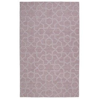 Trends Lilac Geo Wool Rug (9'6 x 13'6)