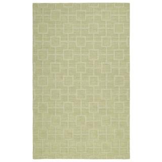 Trends Celery Geo Wool Rug (9'6 x 13'6)