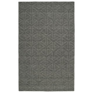 Trends Charcoal Prism Wool Rug (9'6 x 13'6)