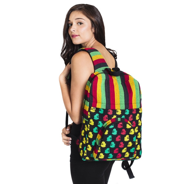 Unisex Rasta Cotton King Backpack - Rasta (Nepal)