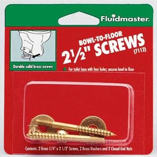 """Fluidmaster 7112 Bowl-To-Floor 2-1/2"""" Screws"""