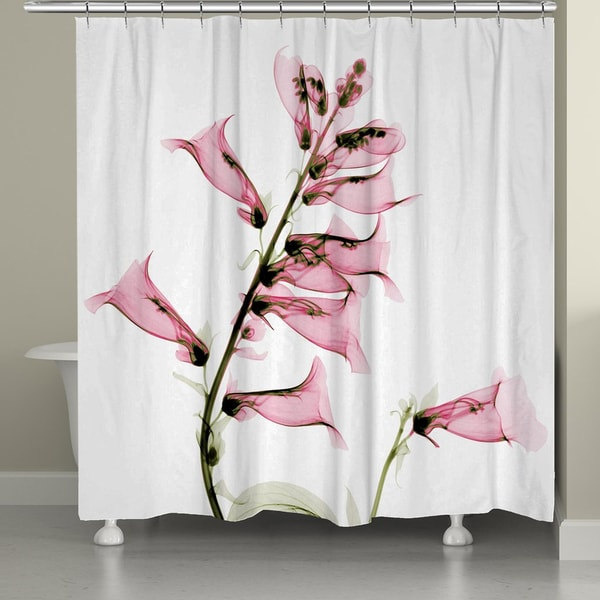 Laural Home X-Ray Foxglove Shower Curtain