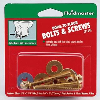 Fluidmaster 7114 Bowl-To-Floor Bolts & Screws