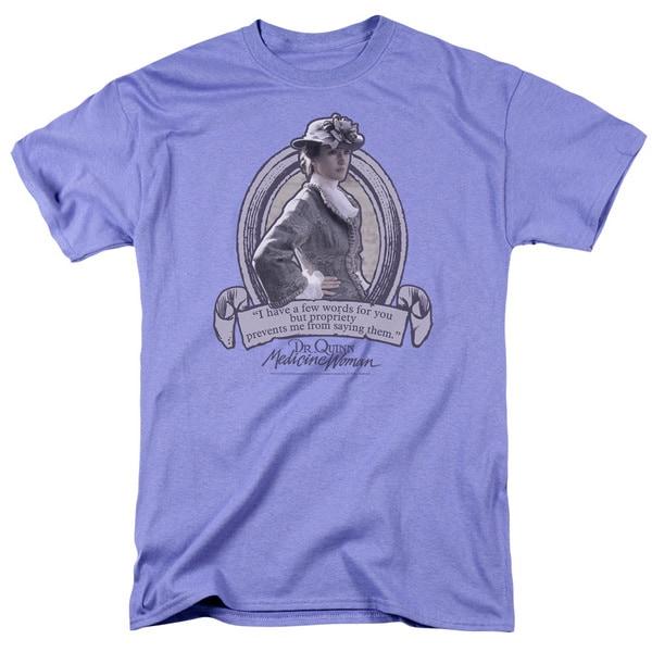Dr.Quinn/Dr.Quinn Quote Short Sleeve Adult T-Shirt 18/1 in Lavendar