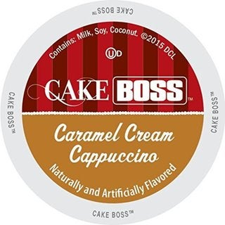 Cake Boss Indulgent Beverages Caramel Cream Cappuccino Keurig K-Cup Brewers Single-serve Cup Portion Pack 20273257