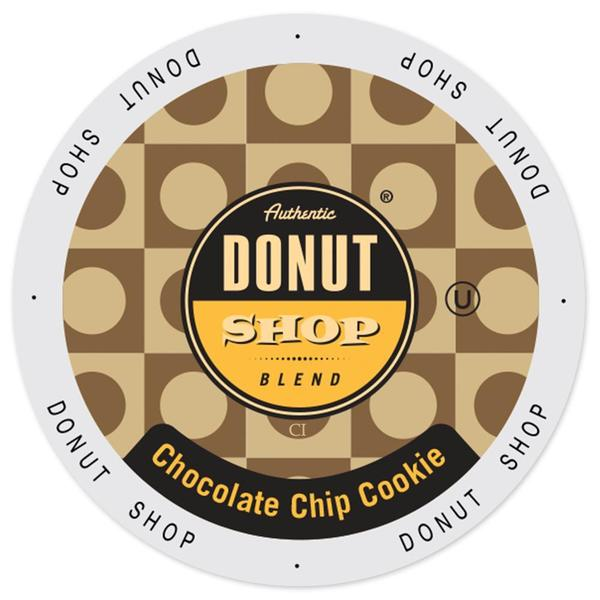 Authentic Donut Shop Blend Chocolate Chip Cookie Single-serve Keurig K-cup Portion Pack 20273431