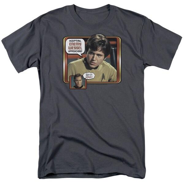 Star Trek/Enemy Wessel Short Sleeve Adult T-Shirt 18/1 in Charcoal