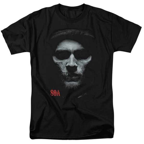 Sons Of Anarchy/Skull Face Short Sleeve Adult T-Shirt 18/1 in Black