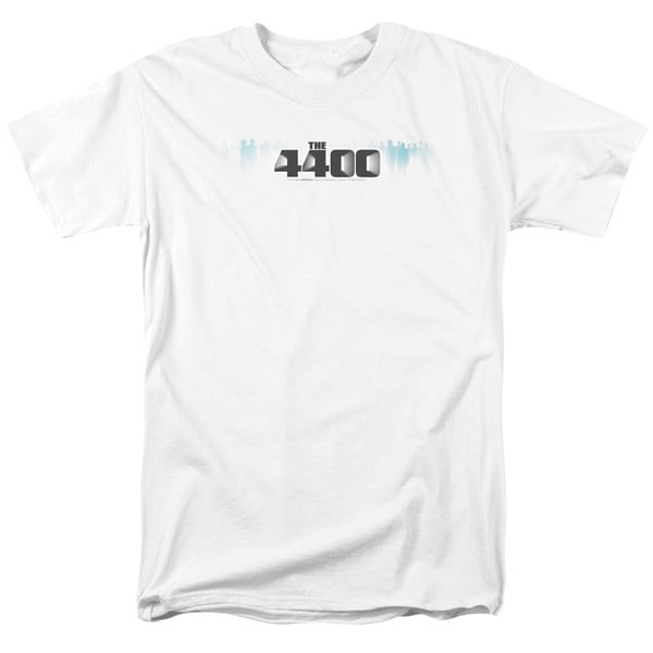 4400/The 4400 Logo Short Sleeve Adult T-Shirt 18/1 in White