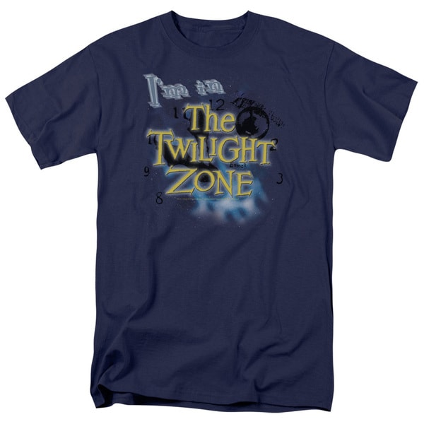 Twilight Zone/I'M in The Twilight Zone Short Sleeve Adult T-Shirt 18/1 in Navy