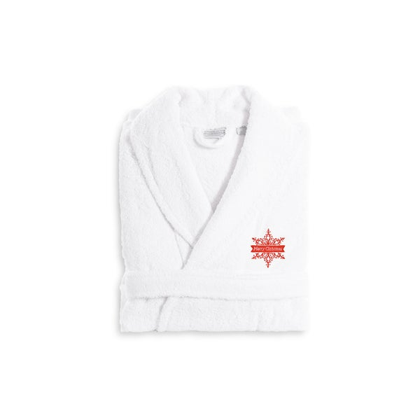 Authentic Hotel and Spa Merry Christmas Holiday Terry Cloth Turkish Cotton Bath Robe