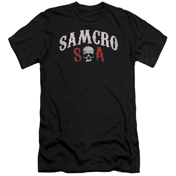 Sons Of Anarchy/Samcro Forever Short Sleeve Adult T-Shirt 30/1 in Black