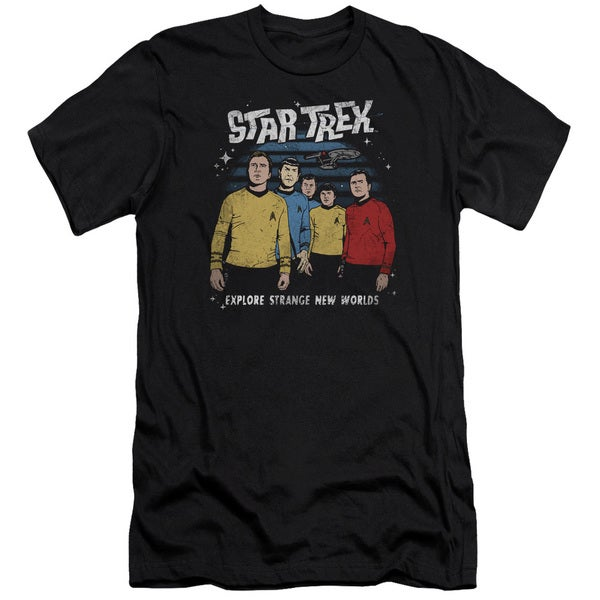Star Trek/Stange New World Short Sleeve Adult T-Shirt 30/1 in Black