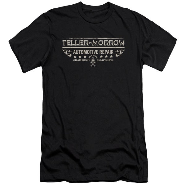 Sons Of Anarchy/Teller Morrow Short Sleeve Adult T-Shirt 30/1 in Black