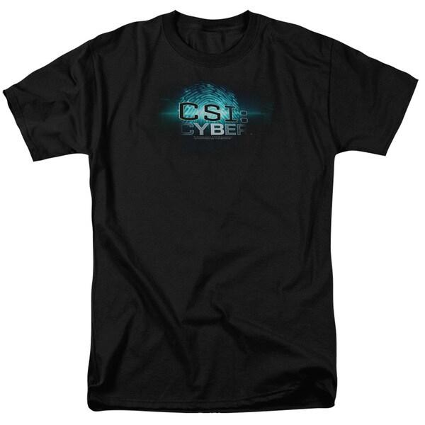 CSI: Cyber/Thumb Print Short Sleeve Adult T-Shirt 18/1 in Black