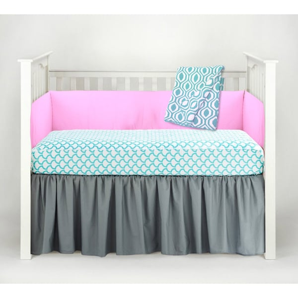 American Baby Company Aqua Waves 3-Piece Crib Bedding Set