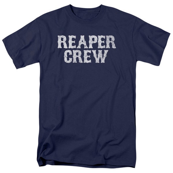 Sons Of Anarchy/Reaper Crew Short Sleeve Adult T-Shirt 18/1 in Navy