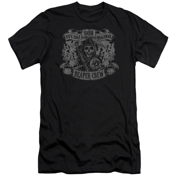 Sons Of Anarchy/Original Reaper Crew Short Sleeve Adult T-Shirt 30/1 in Black