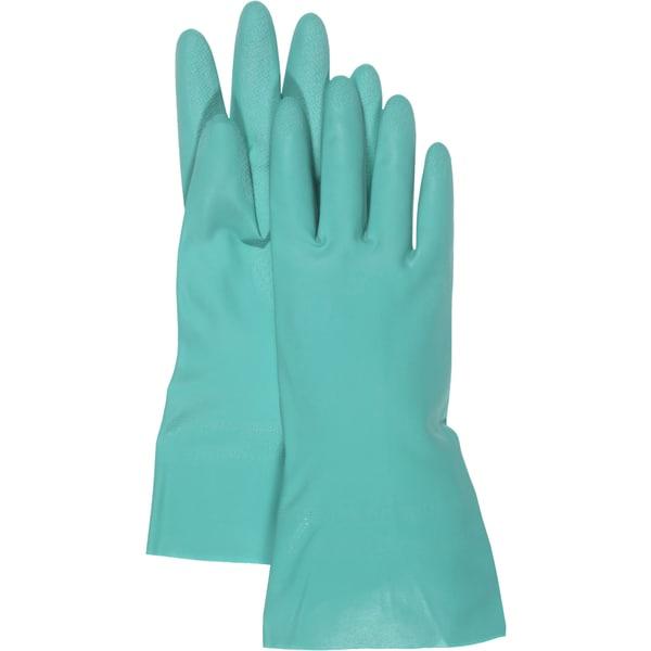 "Boss Gloves 118L 13"" Large Green Nitrile Gloves"