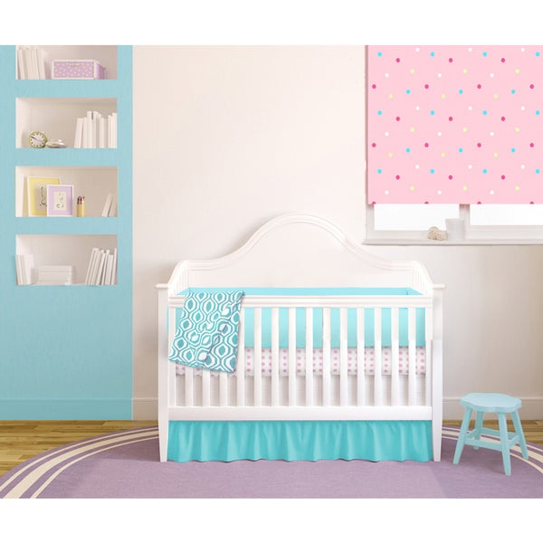 American Baby Company Pink & Teal 6-piece Baby Crib Bedding Set
