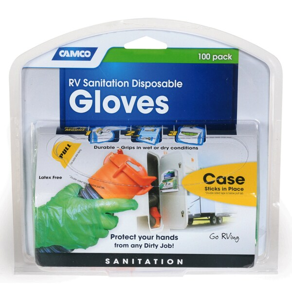 Camco 40285 Disposable Dump Gloves 100-count
