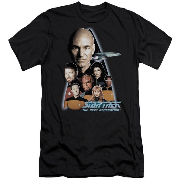Star Trek/The Next Generation Short Sleeve Adult T-Shirt 30/1 in Black