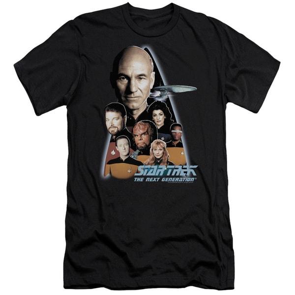 Star Trek/The Next Generation Short Sleeve Adult T-Shirt 30/1 in Black