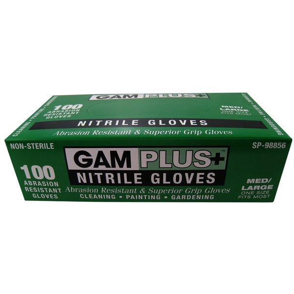 Gam SP98856 100 Pack Nitrile Gloves